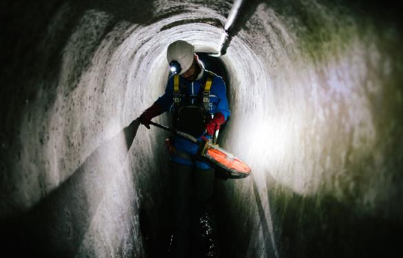 Le service exploitation et maintenance du Département est composé de 128 agents chargés d'exploiter et entretenir le réseau départemental d'assainissement et le réseau inter départemental en Val-de-Marne.