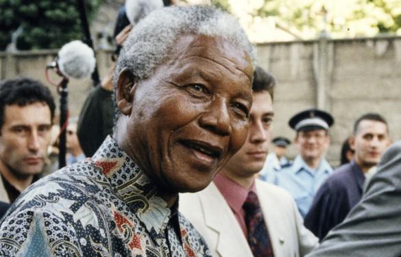 Nelson Mandela à Arcueil en 1996(Crédit : DR/ Archives départementales du Val-de-Marne)