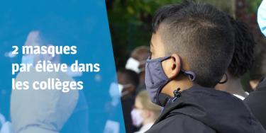 120 000 masques supplémentaires distribués aux collégiennes et collégiens du Val-de-Marne