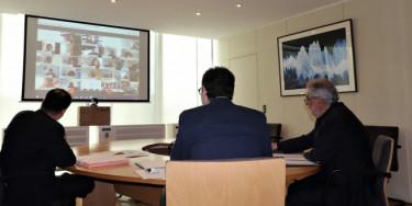 La Commission permanente réunie en visioconférence lundi 9 novembre 2020