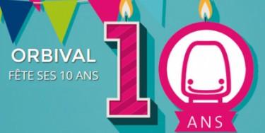 Orbival fête ses 10 ans et vous donne rendez-vous le 16 novembre prochain au pavillon Baltard