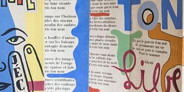 """Poème """"Liberté"""" de Paul Eluard, illustré par Fernand Léger en 1953"""