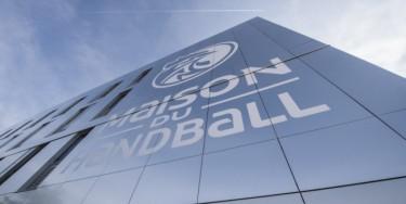Façade de la Maison du handball, à Créteil  ©M. Lumbroso.