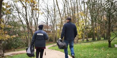 agents départementaux au parc du Rancy à Bonneuil sur Marne