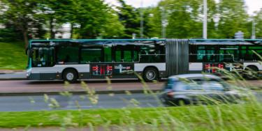 Le Trans val -de-Marne (TVM), ligne de bus exploitée par la RATP et reliant la gare de Saint-Maur - Créteil à la Croix de Berny - Crédit photo : Mathieu Génon