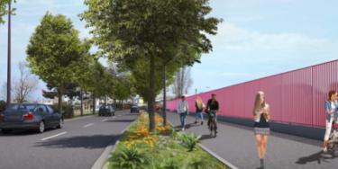 Création d'une voie verte à Bonneuil-sur-Marne.