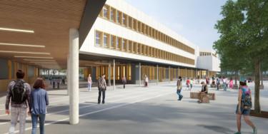 Projet architectural du futur collège de Valenton © Archipente