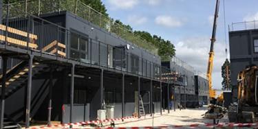 L'avancement des travaux du collège provisoire Saint-Exupéry