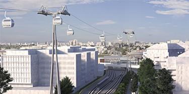 """Transports, Déplacement : Projet de station du Câble A - Téléval """"Créteil – Pointe du Lac"""""""