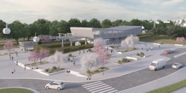 Future station des Temps durables à Créteil (Perspective Île-de-France Mobilités)