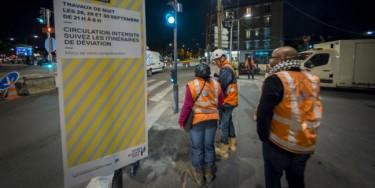 Dans le Val-de-Marne, le chantier du Grand Paris Express devrait générer des milliers d'emplois avec la construction de la ligne 15 Sud. © Alain Bachellier