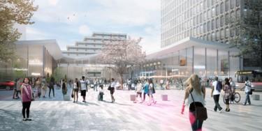 La gare de Créteil L'Échat sera localisée à proximité du CHU Henri Mondor à Créteil. Elle permettra la correspondance avec la ligne 8 du métro.