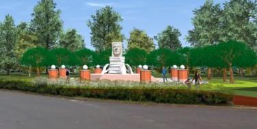Le monument sera délimité par des colonnes en briques. Au centre, un portrait de Louis Talamoni sera gravé dans du marbre. © Les amis du Plateau