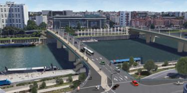 Ponts Nelson-Mandela vue globale.