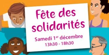 La Fête des solidarités aura lieu le 1er décembre 2018