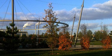 Parc des Cormailles à Ivry-sur-Seine en automne
