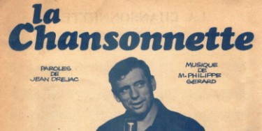 Couverture de la partition musicale « La chansonnette». 1961(©Collection particulière).