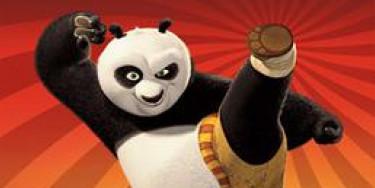 Projection en plein air du film Kung Fu Panda au parc du Rancy