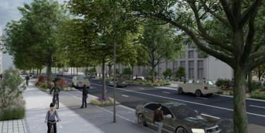 Vue en perspective des futurs aménagements qui seront réalisés sur la RD7 sud