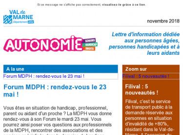 Rdv Forum MDPH / L'APA en chèques CESU / Filival