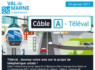 Téléval / Val'Hebdo / Festi'ValdeMarne / Emploi / TRAM 9 / Forum des aidants