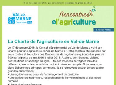 [Rencontres de l'agriculture] Lettre d'information n°3