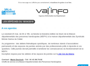 Val'info : 18/04/2018
