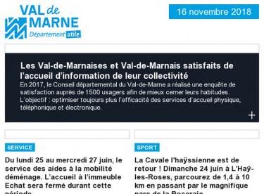 Enquête de satisfaction / Fermeture de service / La Cavale l'haÿssienne / Sciences Tour Transition / Voguez sur le lac
