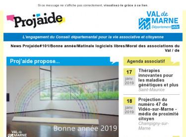 News Projaide#101/Bonne année/Matinale logiciels libres/Moral des associations du Val-de-Marne