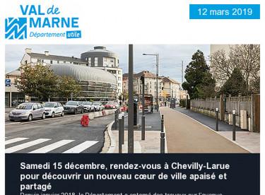 Un nouveau cœur de ville à Chevilly-Larue / Etats généraux des solidarités / Hashtag d'Or pour le Val-de-Marne