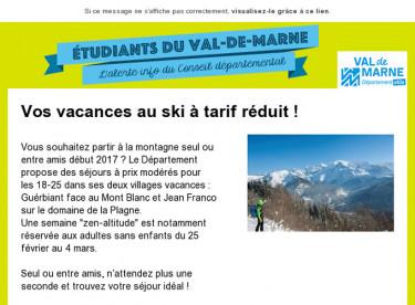 Vos vacances au ski à tarif réduit !