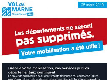 Grâce à votre mobilisation, vos services départementaux continuent / Assemblée départementale et commission permanente du 17/12