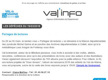 Val'info : 19/03/2018