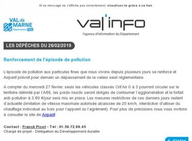 Val'info : 26/02/2019