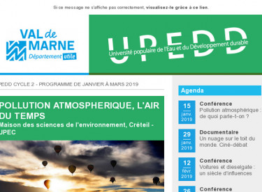 "[UPEDD] Cycle ""Pollution atmosphérique, l'air du temps"" à Créteil"