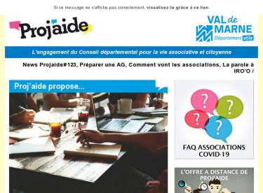 News Projaide#123, Préparer une AG, Comment vont les associations, La parole à IRO'O
