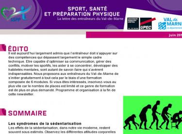 Newsletter Sport Santé Préparation Physique
