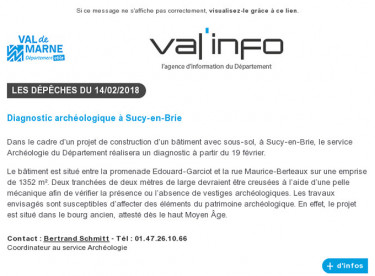 Val'info : 14/02/2018