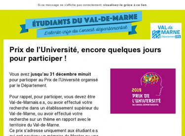 Prix de l'Université, encore quelques jours pour participer !