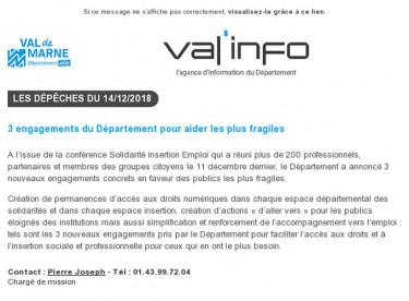 Val'info : 14/12/2018