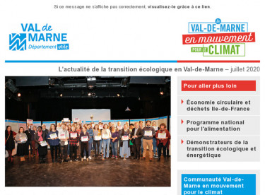 Lettre d'actualité du réseau Val-de-Marne en mouvement pour le climat - Janvier 2020