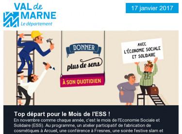 ESS / Val'Hebdo / Orbival  / Chèque solidarité