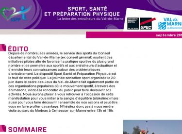 Lettre Sport Santé et Préparation Physique