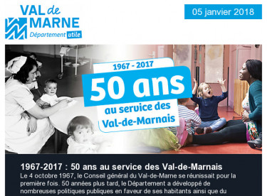 50 ans du Département / Forum des aidants / Qualité de l'air / Améthyste / Emploi