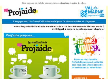 News Projaide#94/Matinale sureté et sécurité des évènements/Retour sur le 3 avril/Appel à projets développement durable