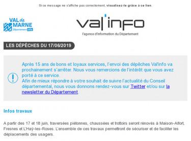 Val'info : Info travaux