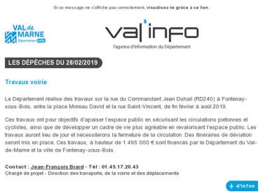 Val'info : 28/02/2019