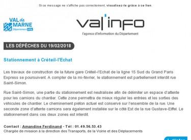 Val'info : 19/02/2018