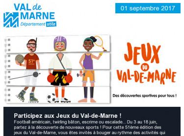 Jeux du Val-de-Marne / Kamishibaï / Rendez-vous aux jardins / SEDD / Nutrition / Villages vacances