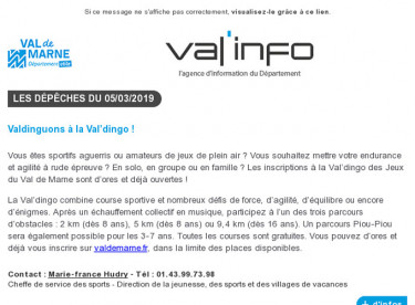 Val'info : 05/03/2019